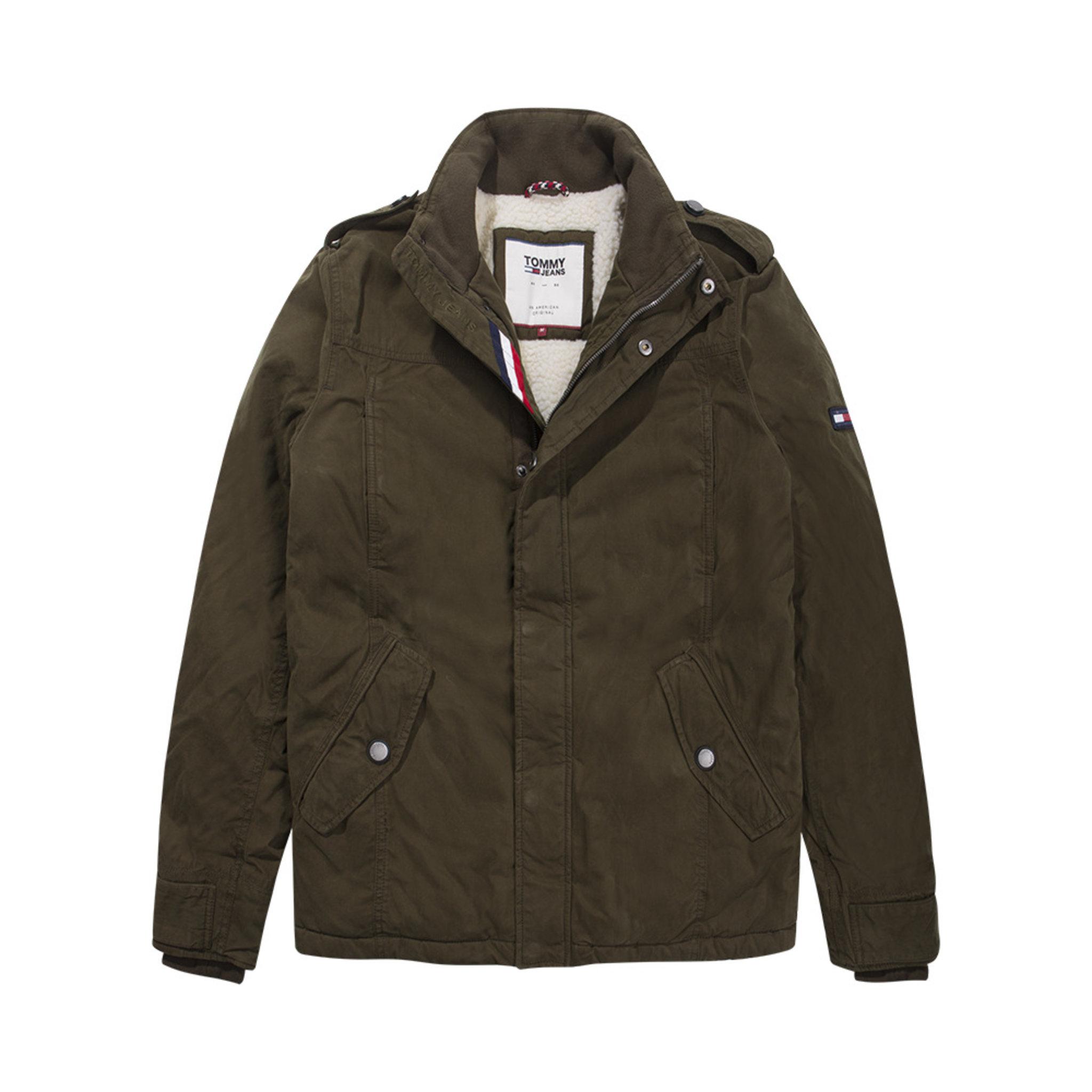 Padded Cotton Field Jacket, grön