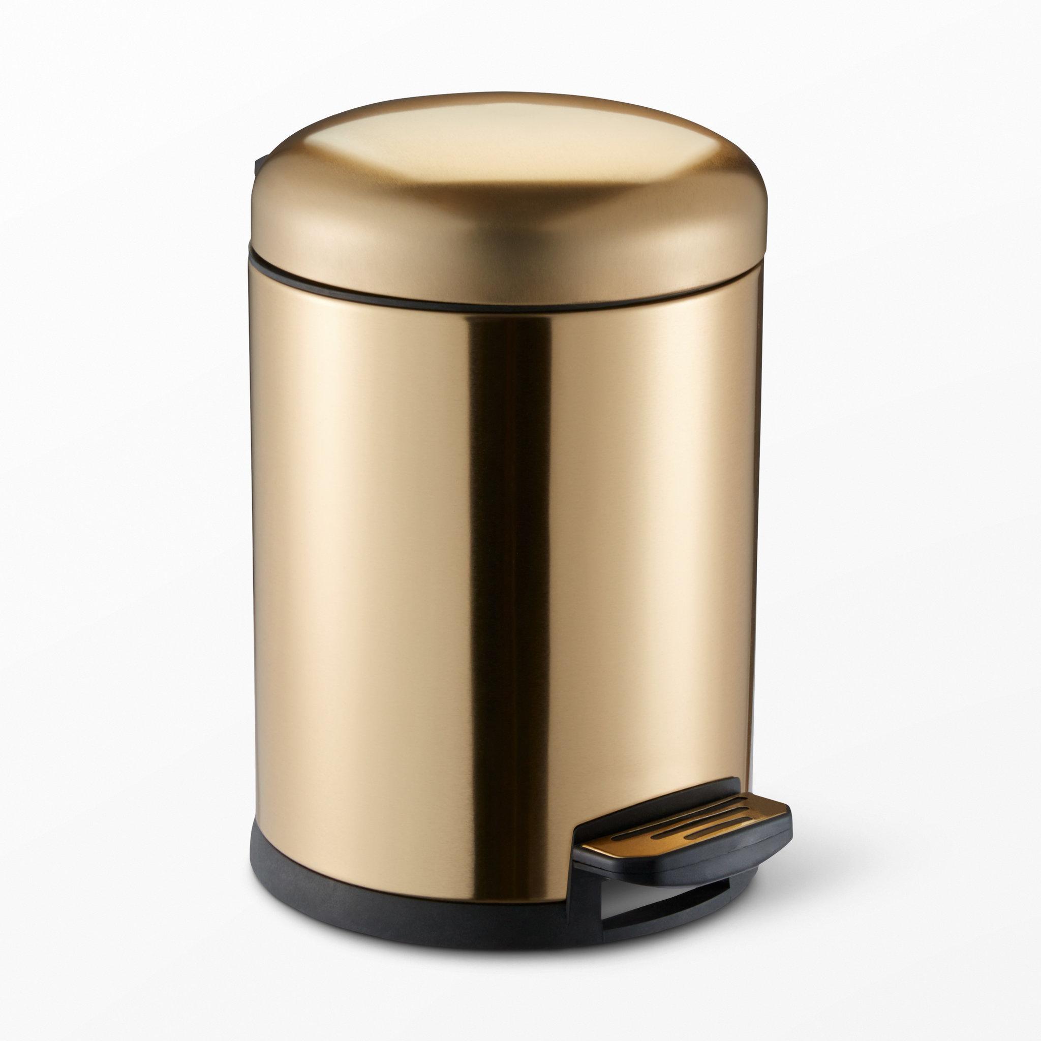 Guldfärgad pedalhink, 5l   badrumsaccessoarer  köp online på ...