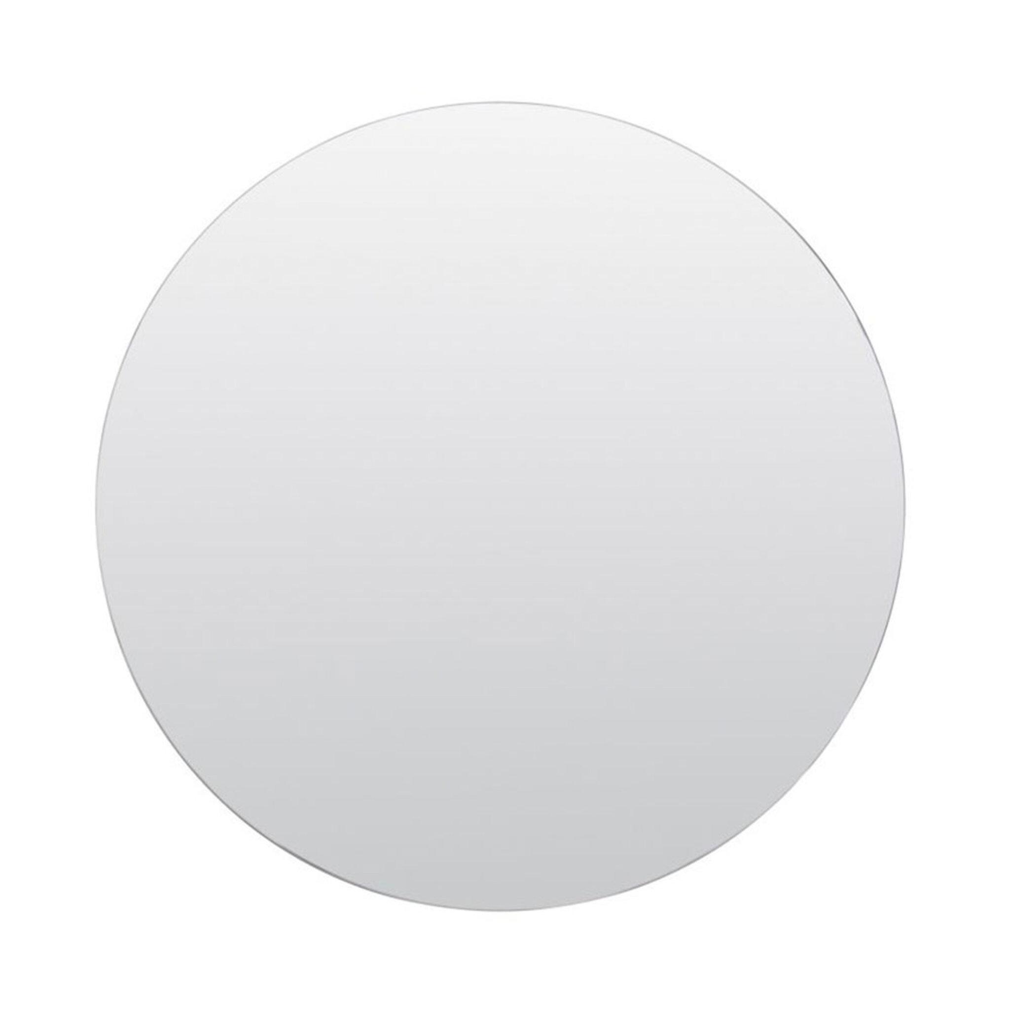 stor rund spegel mässing
