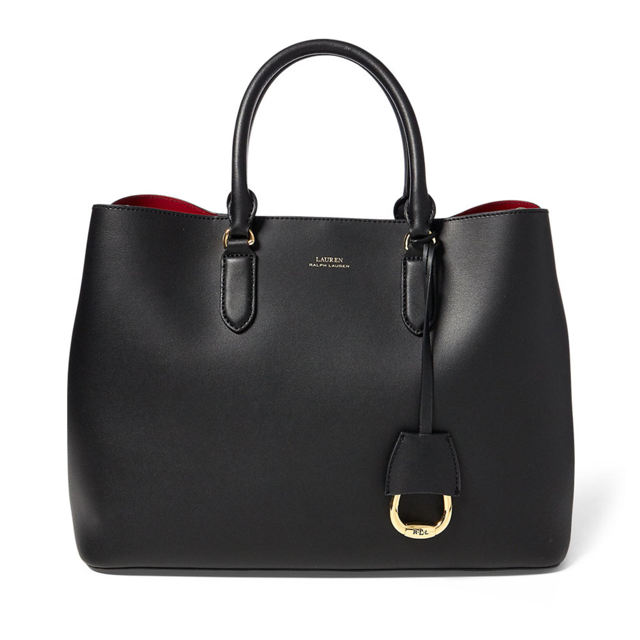 Marcy Leather Satchel, ONE SIZE, black