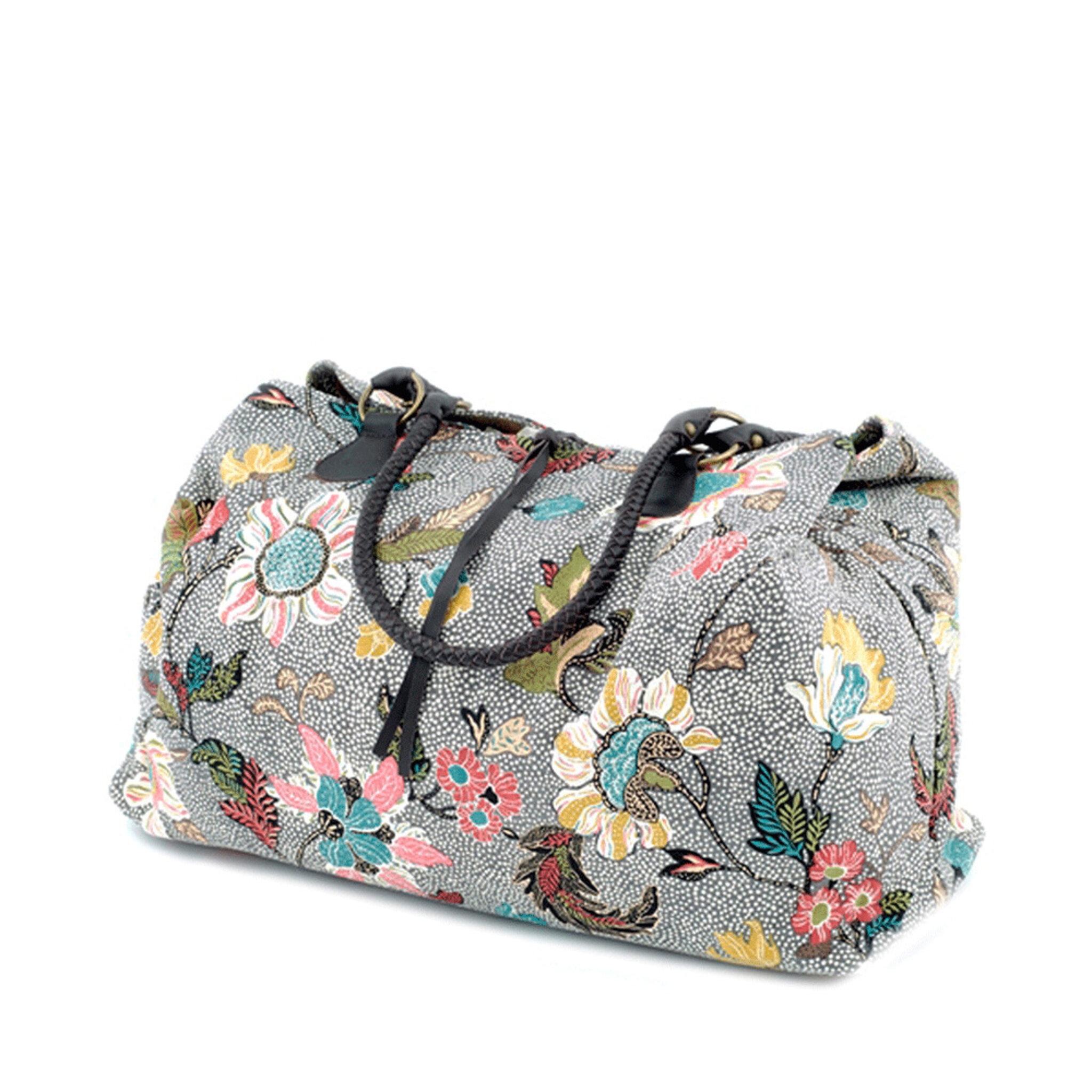 Weekend Bag Grey Flower Linen - Weekendväskor - Köp online på åhlens.se! 9b2f233d73aff