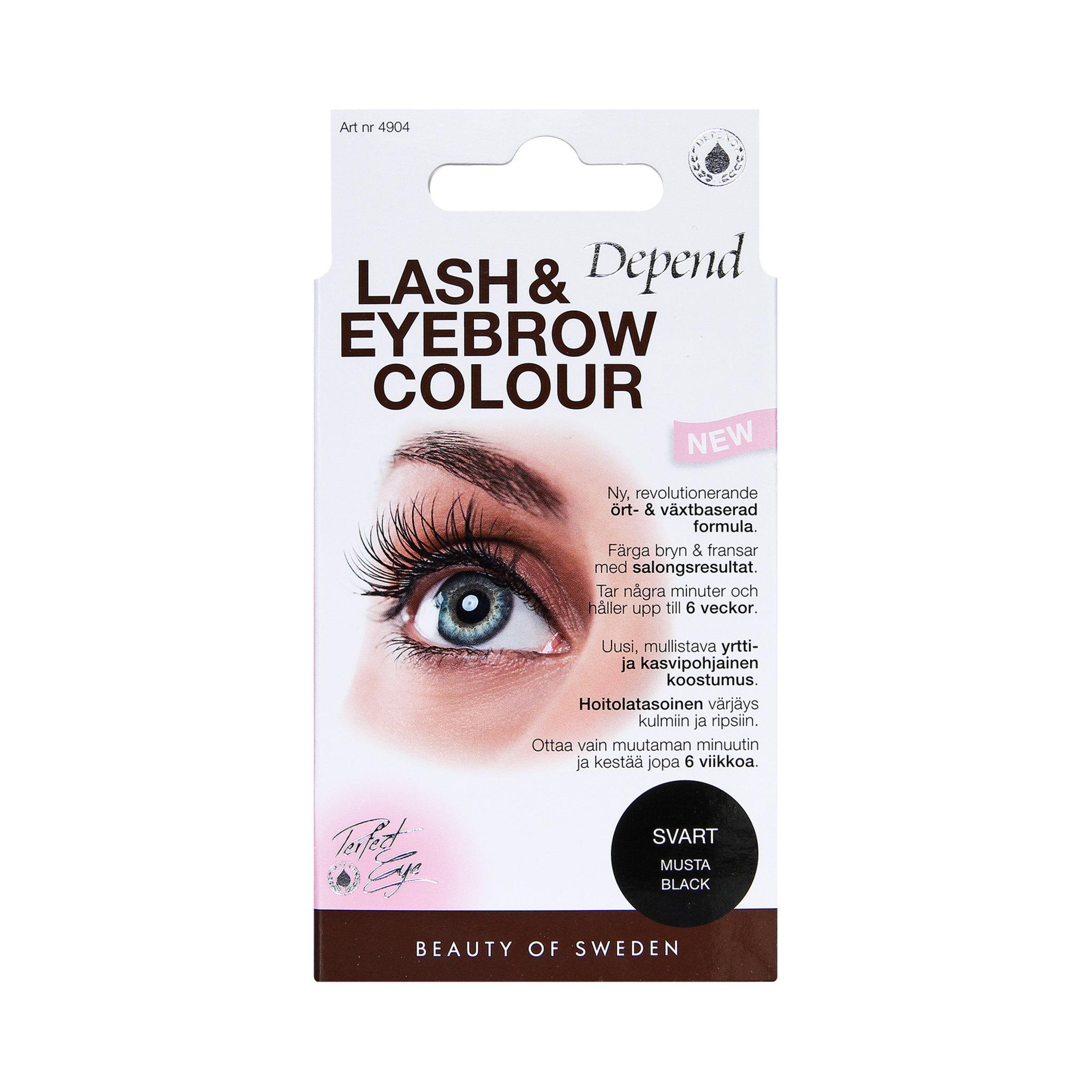 depend ögonbrynsfärg till ögonfransar