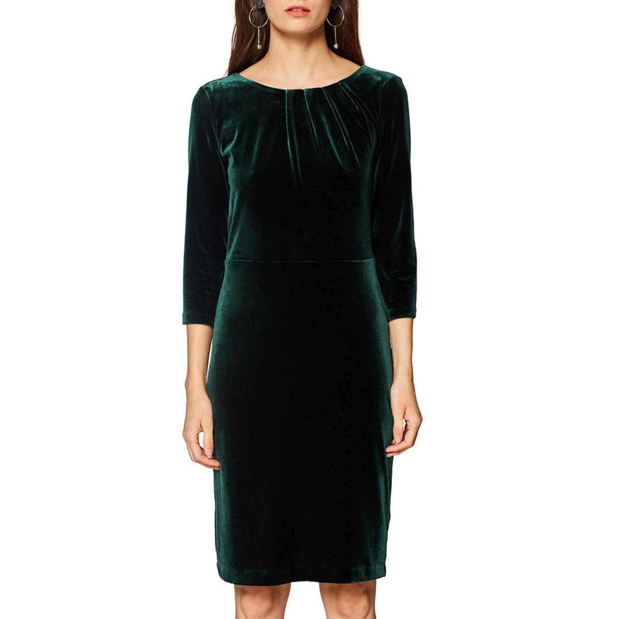 grön klänning sammet