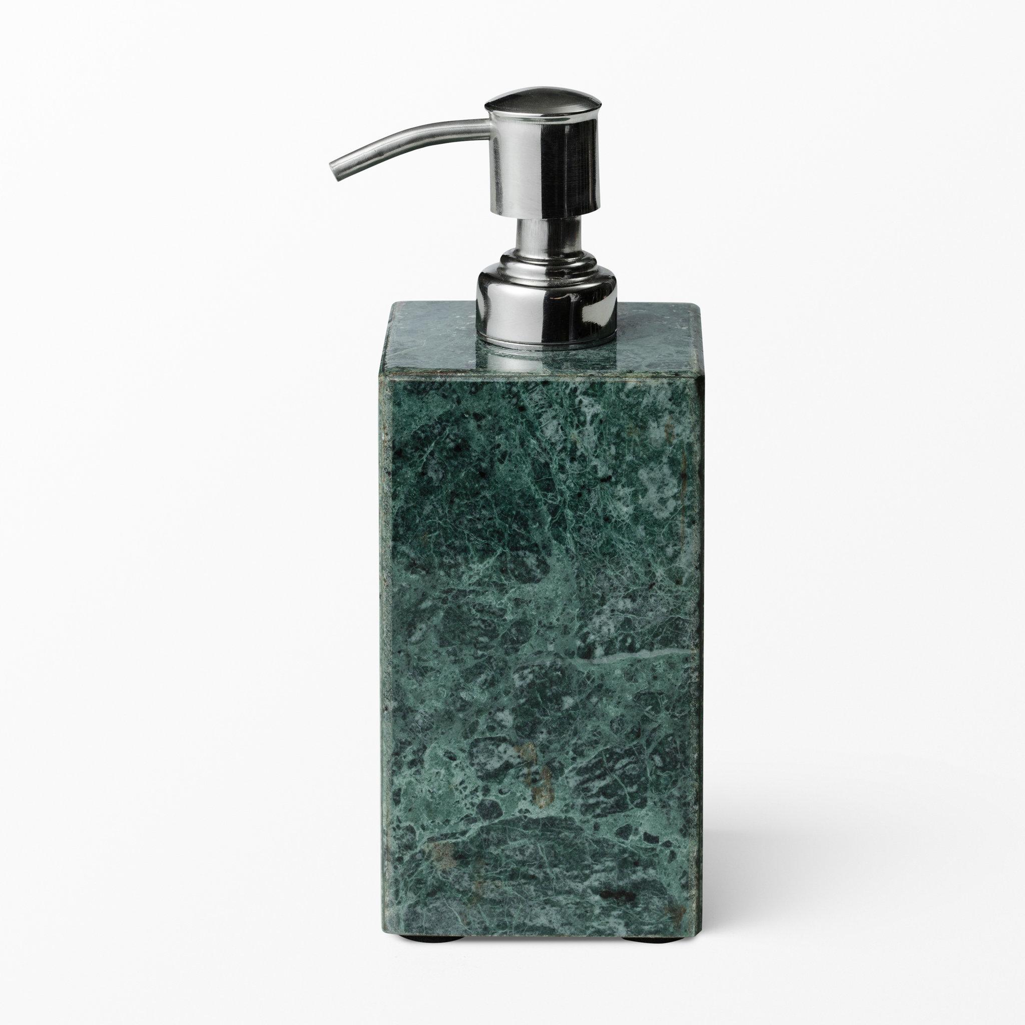 Grön marmor tvålpump