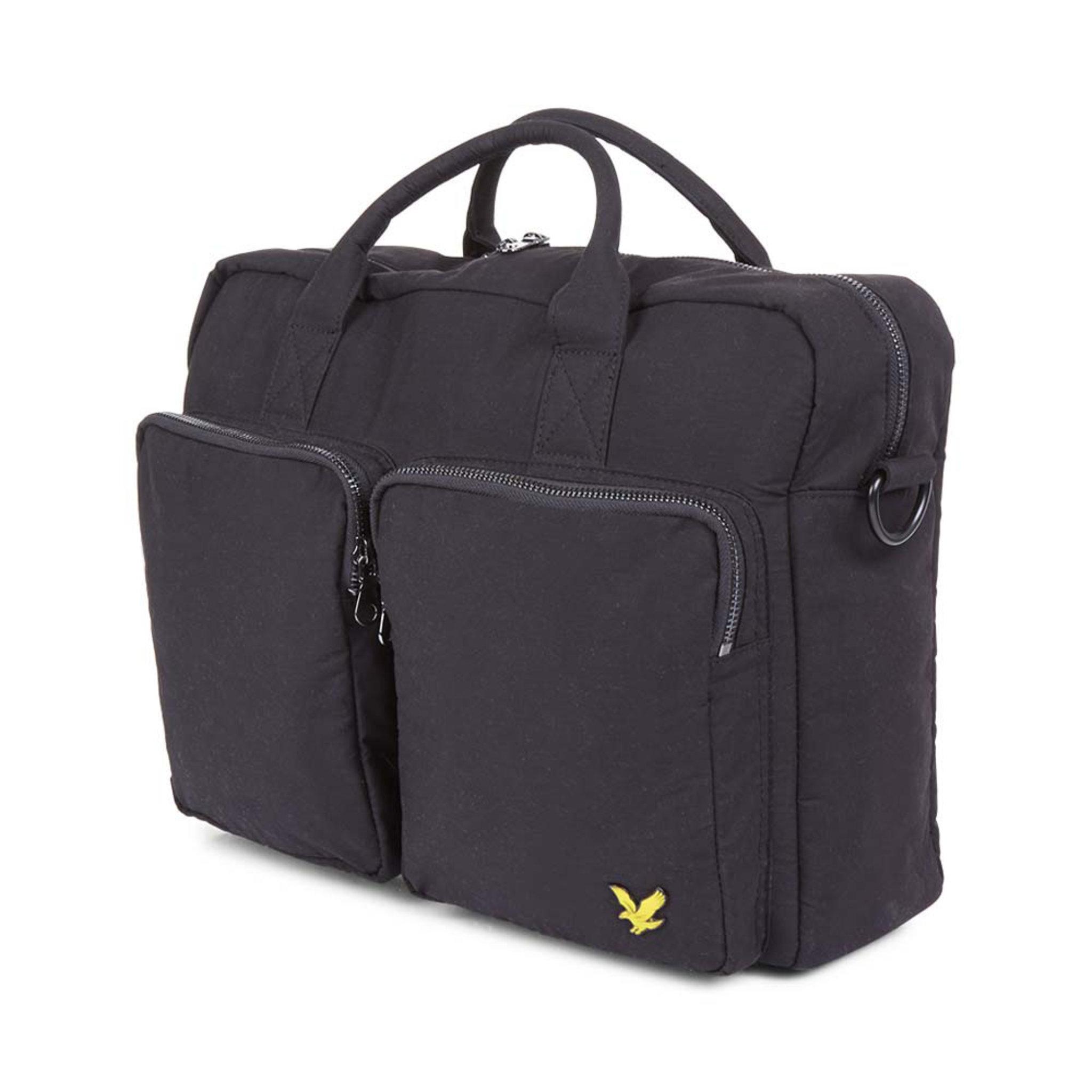2 Pocket Shoulder Bag, svart