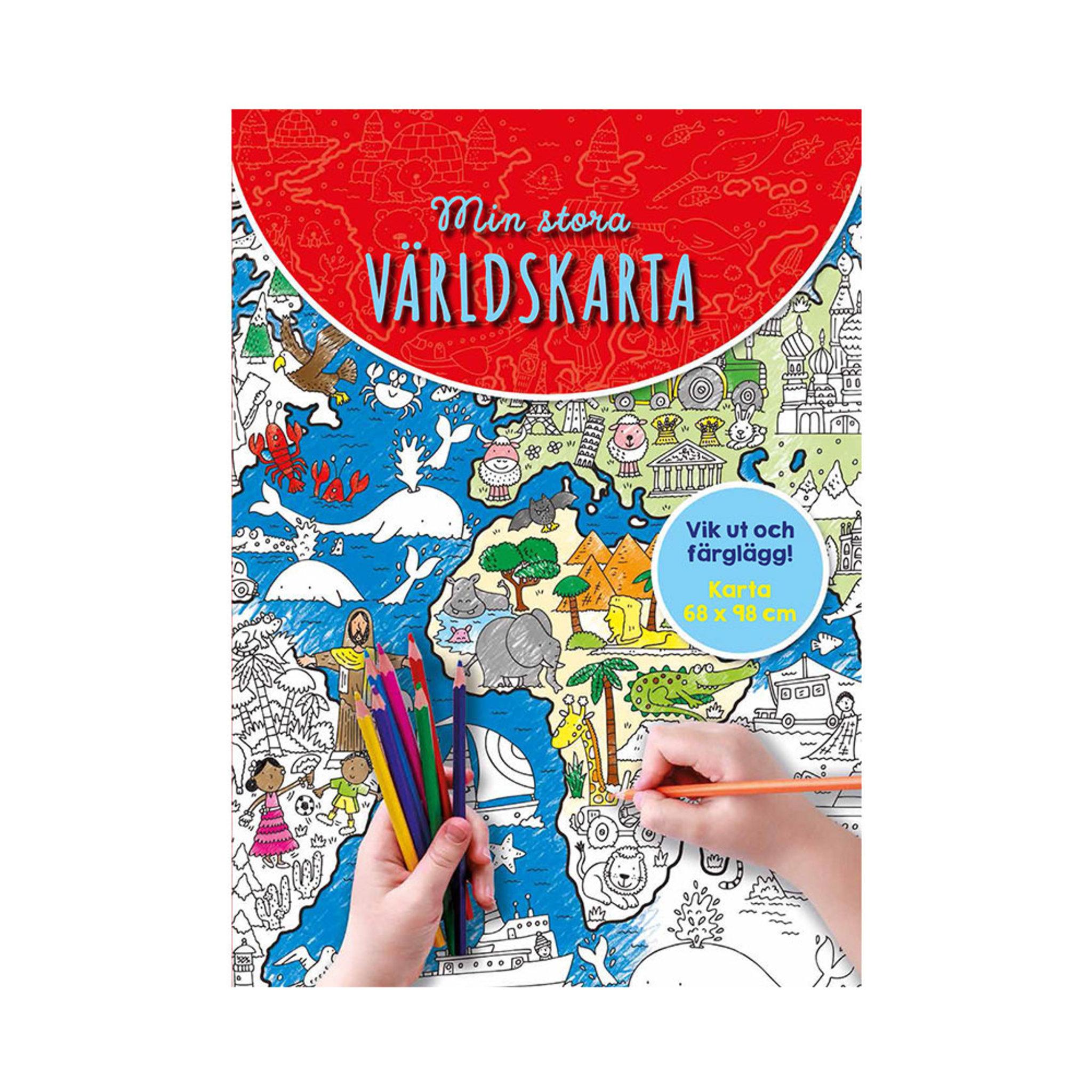 Min stora världskarta - Skapa   pyssla - Köp online på åhlens.se! 79292524fc7d6