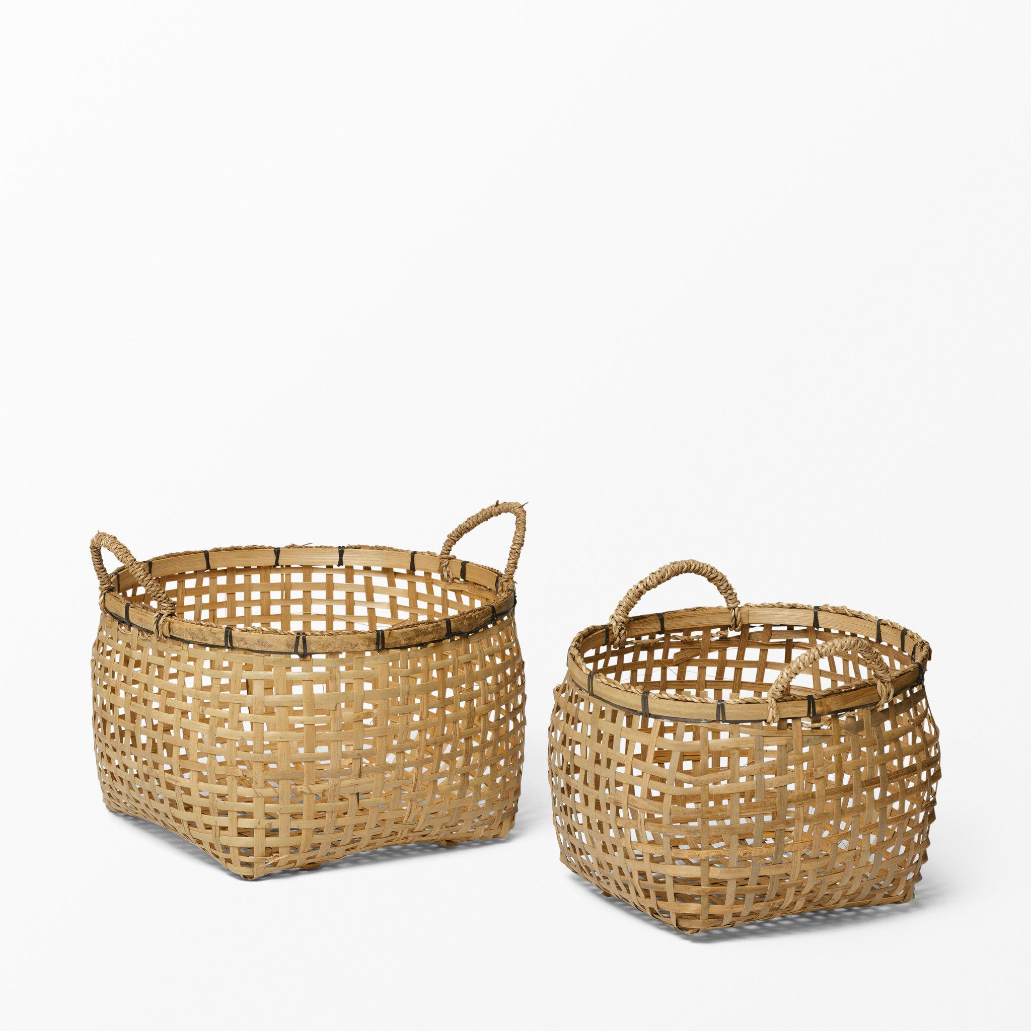 Helt nya Korg i flätad bambu, 2-pack - Förvaring - Köp online på åhlens.se! GT-21