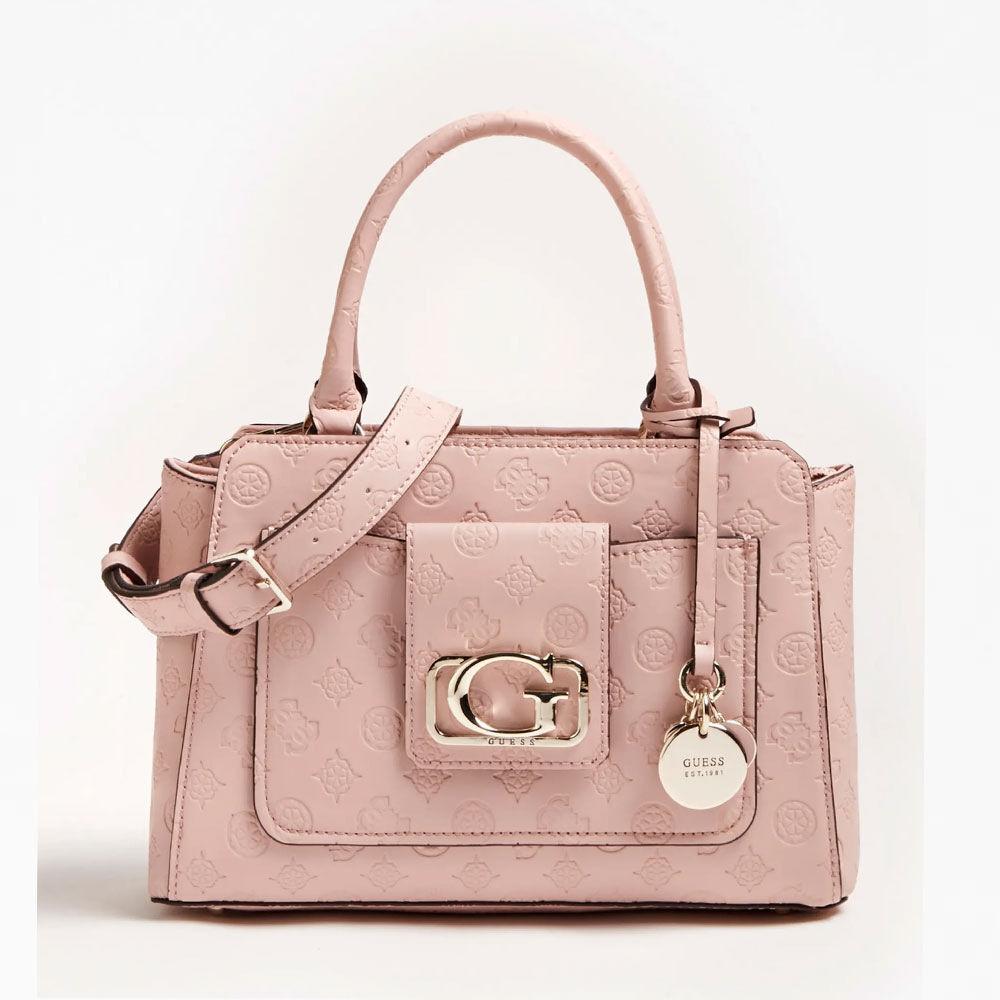 Guess Digital Status Satchel Bag Pink i rosa | fashionette
