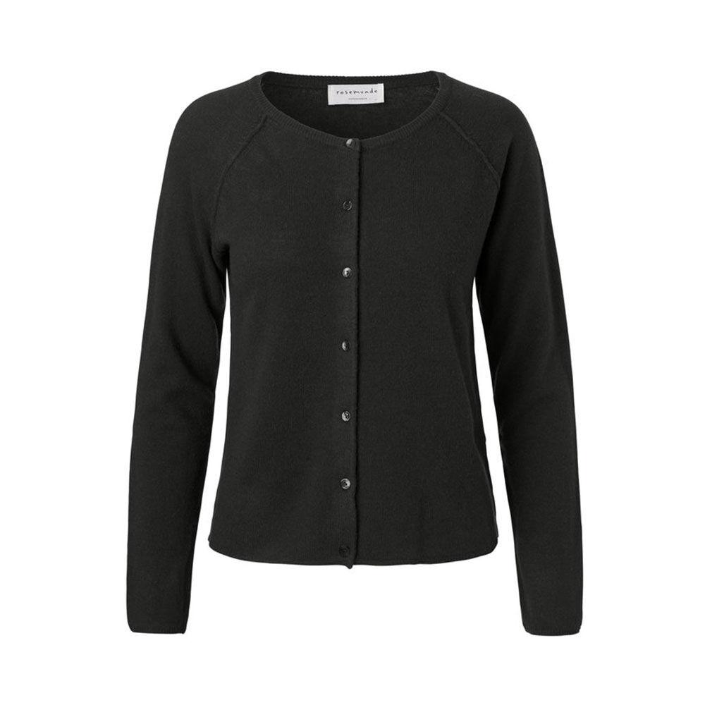 Soft Cashmere Wool Cardigan, black