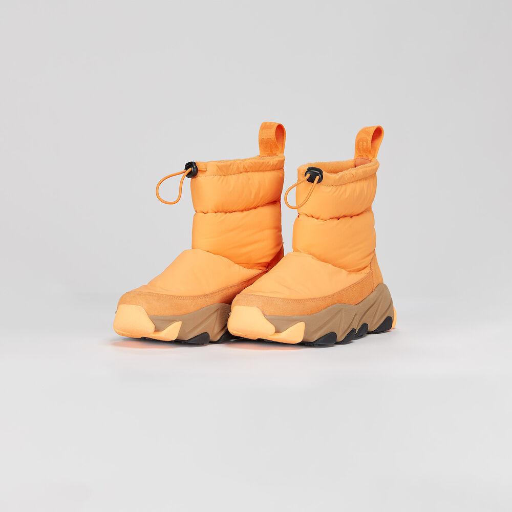 Low Winter Boots, vivid orange