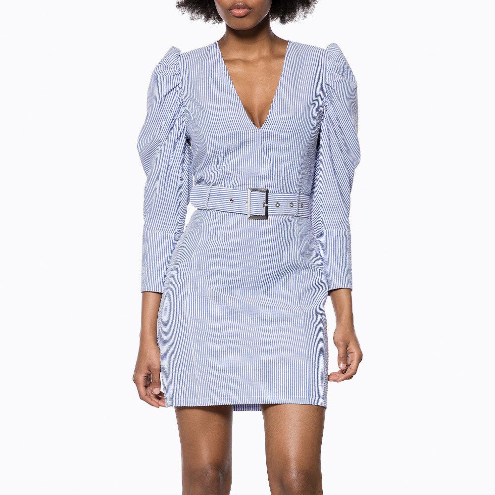 Belted V Neck Dress Mix Fodralklänningar Köp online på