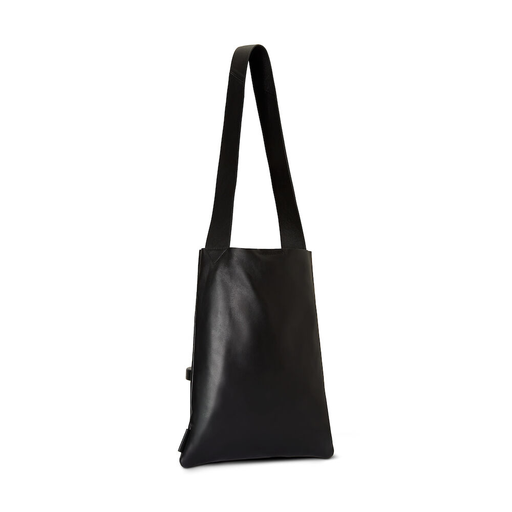 shoppingväska svart skinn