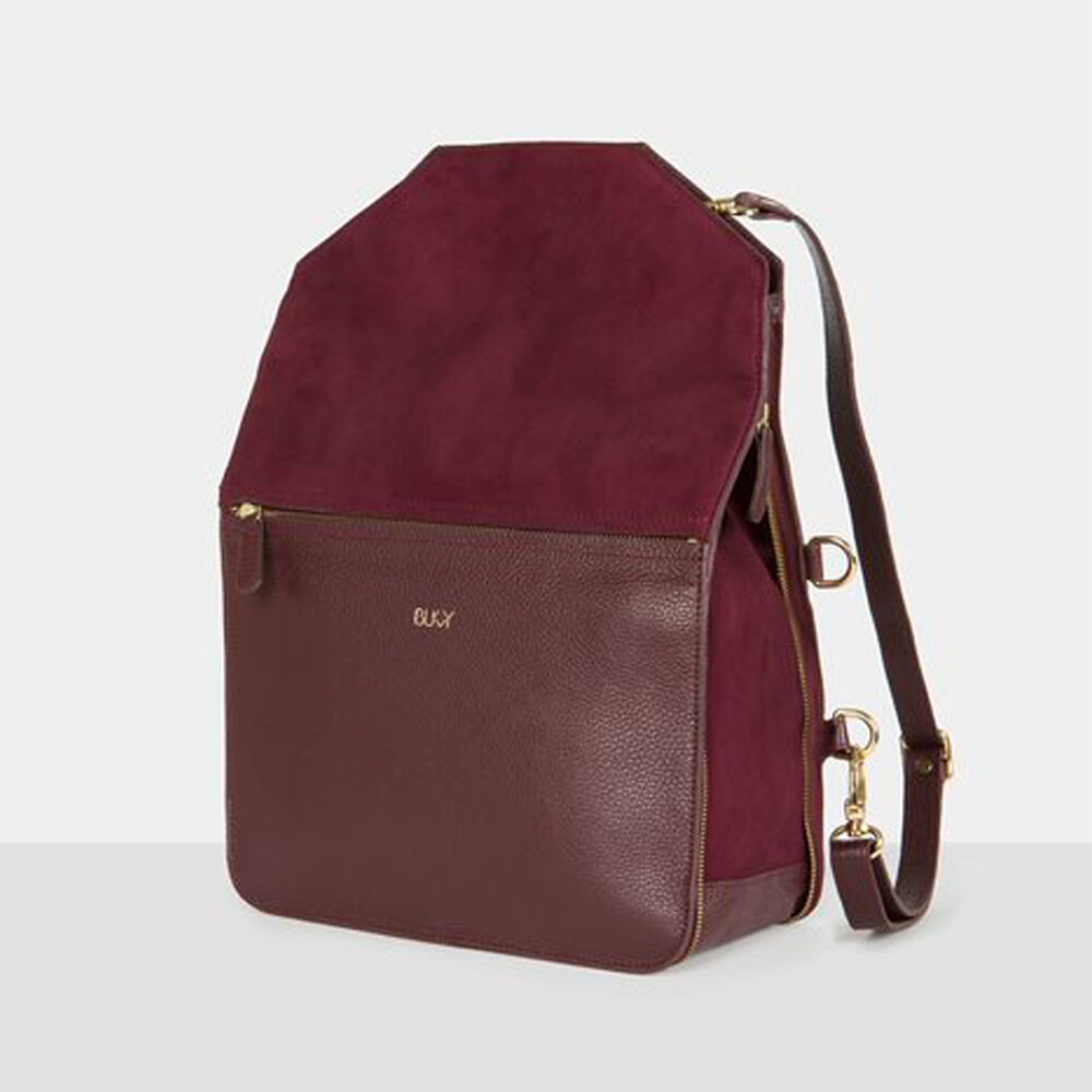 3 i 1 väska i läder: ryggsäck, hand och axelremsväska