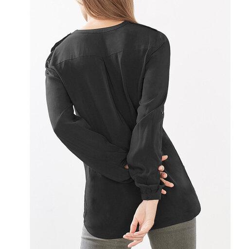 Böljande blus med uppvikbar arm - Blusar   skjortor - Köp online på  åhlens.se! c1333193b3a44