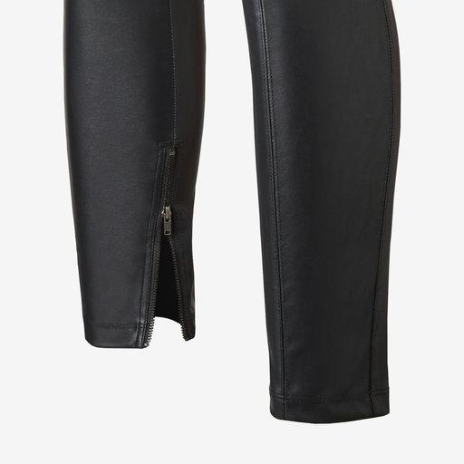 byxa i läderimitation
