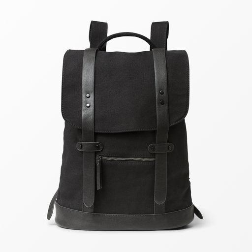Ryggsäck i läder Svart HERR | H&M SE