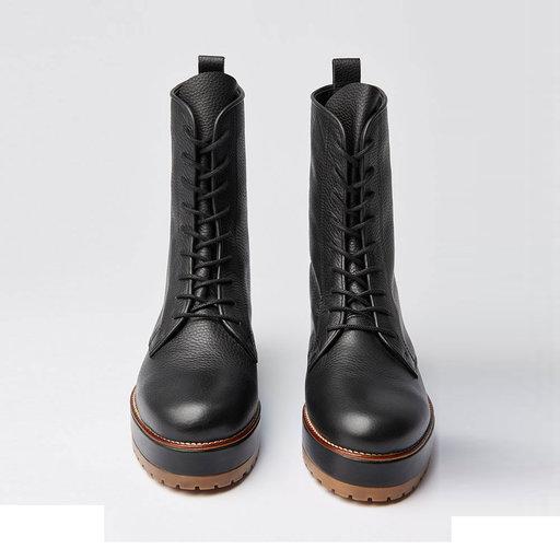 Rugged Zip Croco Blk Stövlar & boots Köp online på