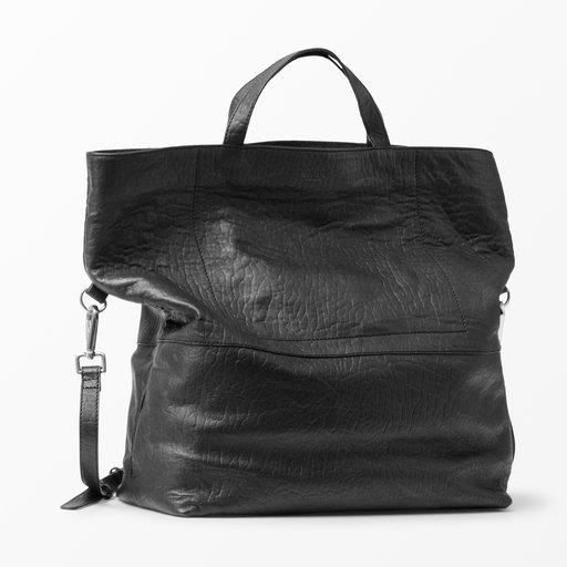 svart läderväska dam