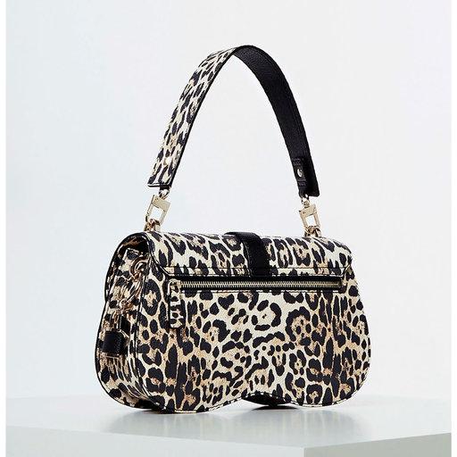 Asher shoulder bag, leopard