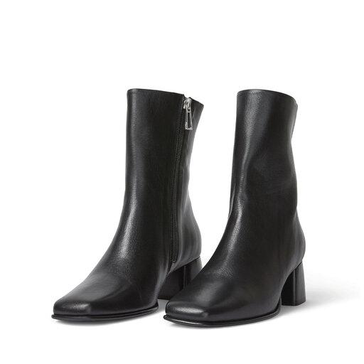 Eileen Leather Boot, svart