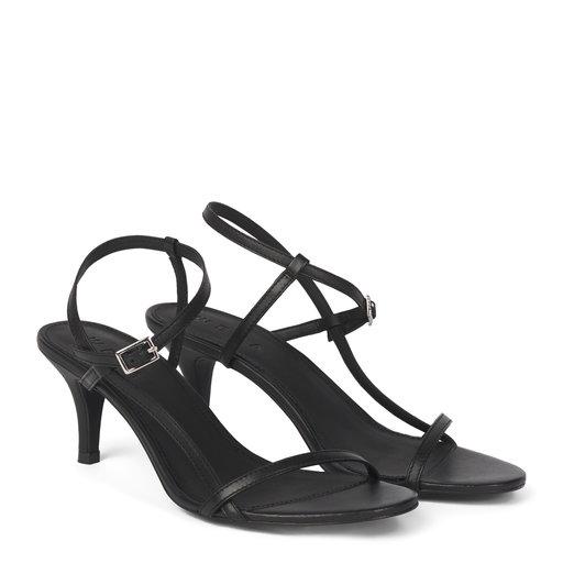 Sandal med klack, svart