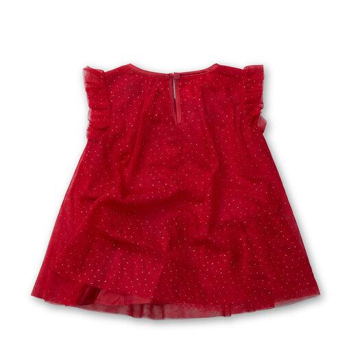 vinröd klänning baby