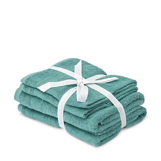 Handduksset, 4-pack, grön