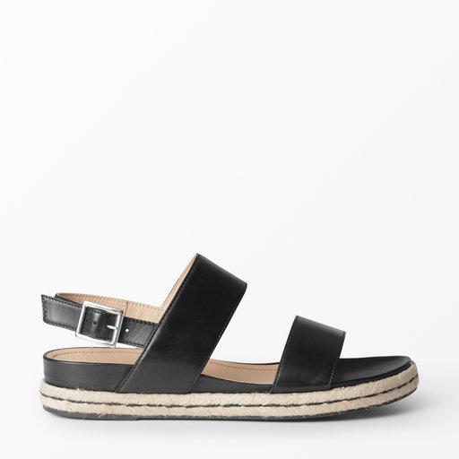 Sandal i skinn, svart