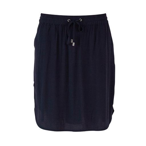 Elastic Waist Skirt, mörkblå