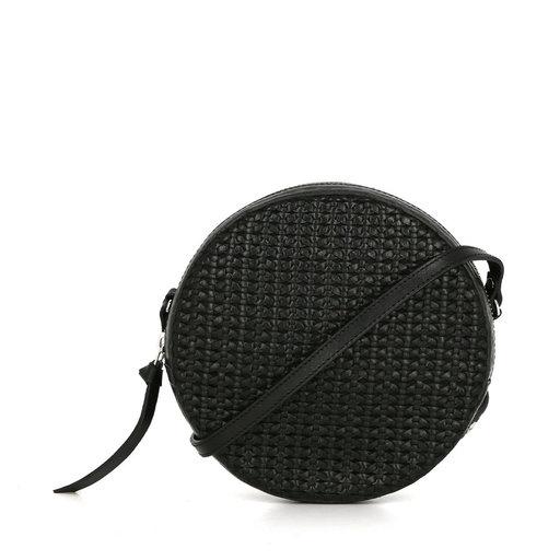 Handväska, Aria Braided Round Bag, svart
