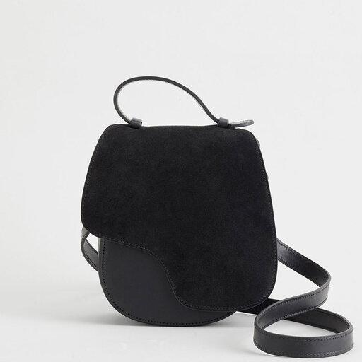 Carrara Black Crossbody Bag, svart