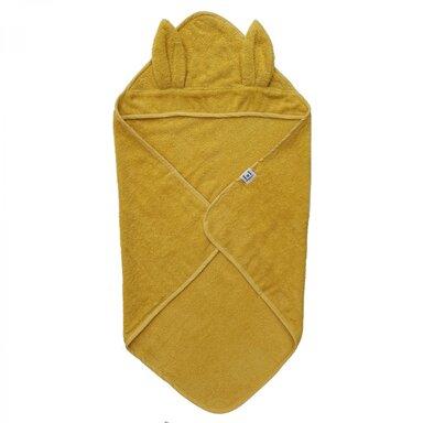 Badcape Rabbit Sun Yellow Gots, 75x75 cm