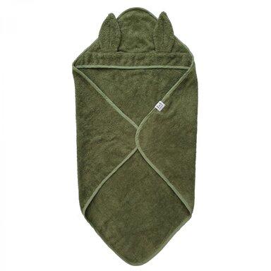 Badcape Rabbit Green Gots, 75x75 cm